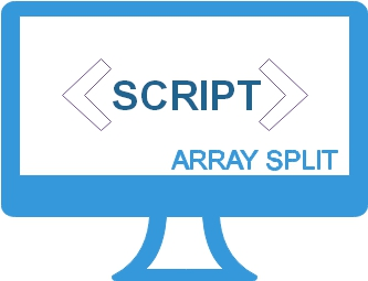 Split() method to create array by breaking string using
