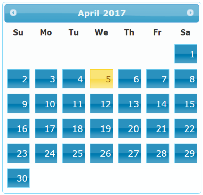 Jquery Date Selector from a calendar using Jquery UI