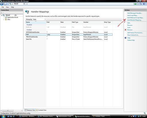 Configuring IIS7 to run PHP in ISAPI module