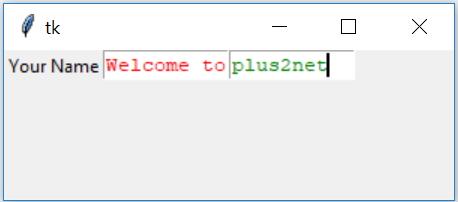 Python tkinter for GUI programs text